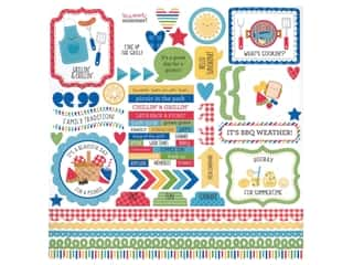 Doodlebug This & That Stickers - Bar-B Cute (12 pieces)