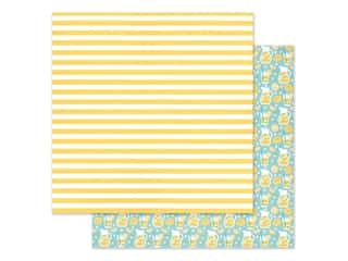 "Doodlebug Collection Bar-B Cute Paper 12""x 12"" Fresh Lemonade (25 pieces)"
