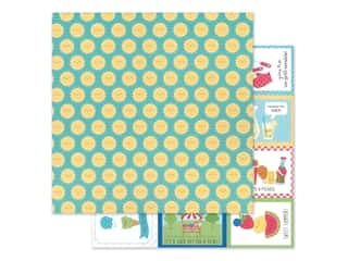 "Doodlebug Collection Bar-B Cute Paper 12""x 12"" Summer Sun (25 pieces)"
