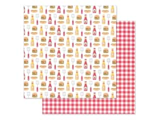 "Doodlebug Collection Bar-B Cute Paper 12""x 12"" Picnic Plaid (25 pieces)"
