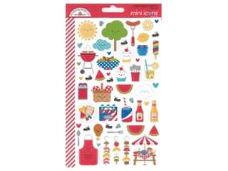 Doodlebug Mini Icons Stickers - Bar-B Cute