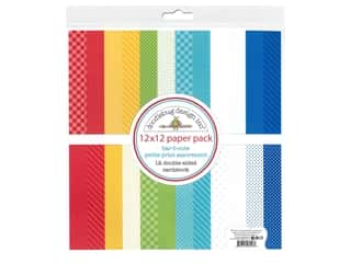 "Doodlebug Collection Bar-B Cute Paper Pack 12""x 12"" Petite Print"