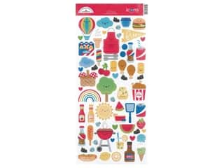 Doodlebug Icons Stickers - Bar-B Cute