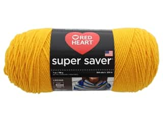 yarn & needlework: Coats & Clark Red Heart Super Saver Yarn 4ply 7oz Saffron