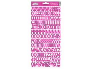 Doodlebug Alphabet Stickers - Sunshine Bubblegum