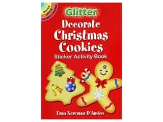 scrapbooking & paper crafts: Dover Publications Little Glitter Decorate Christmas Cookies Sticker Activity Book