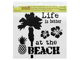 "scrapbooking & paper crafts: The Crafter's Workshop Stencil 12""x 12"" Rebekah Meier Designs At The Beach"