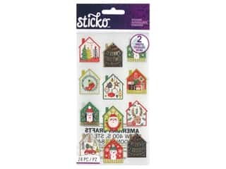 EK Sticko Stickers Holiday Scene Gold Foil