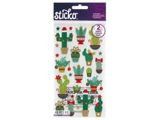 EK Sticko Stickers Holiday Cacti Gold Foil