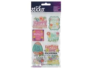 scrapbooking & paper crafts: Sticko Dimensional Stickers - Puffy Easter Sentiments