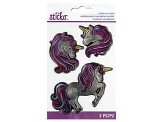 scrapbooking & paper crafts: Sticko Stitchy Stickers - Embossed Unicorn
