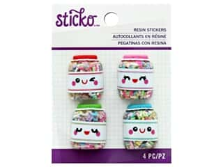 EK Sticko Stickers Resin Large Painted Sprinkles Jar