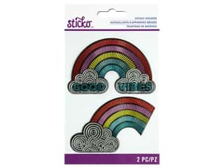 scrapbooking & paper crafts: EK Sticko Stickers Stitchy Embossed Rainbow