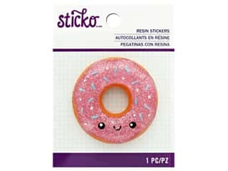 EK Sticko Stickers Resin Large Painted Donut
