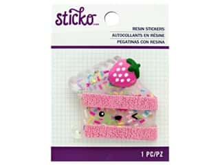 scrapbooking & paper crafts: EK Sticko Stickers Resin Large Painted Cake