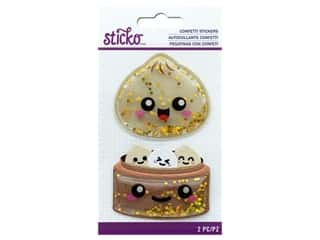 EK Sticko Stickers Confetti Air Puffy Dumpling