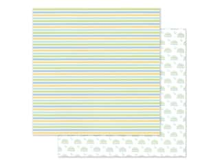 "Doodlebug Collection Special Delivery Paper 12""x 12"" Nursery Stripes (25 pieces)"