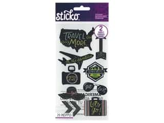 EK Sticko Stickers Chalk Travel