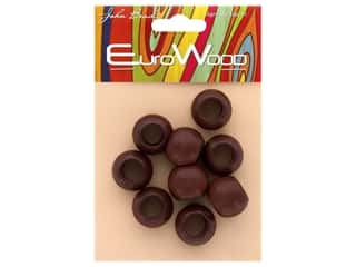 John Bead Wood Bead Euro Wood Round Large Hole 20x16mm Mahogany
