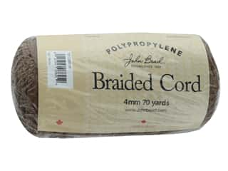 craft & hobbies: John Bead Braided Macrame Cord 4mm 70yd Mocha
