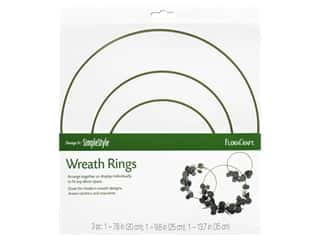 craft & hobbies: FloraCraft Wire Wreath Ring Set Gold 3 pc