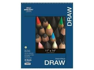 """Pro Art Drawing Paper Pad 11""""x 14"""" 80lb Wire Bound 25pc"""
