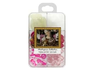 beading & jewelry making supplies: John Bead Glass Bead Masterpiece Collection Box Mix Madonna and Child - Carlo Crivelli