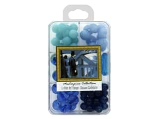 beading & jewelry making supplies: John Bead Glass Bead Masterpiece Collection Box Mix Le Pont de l'Europe - Gustave Caillebotte