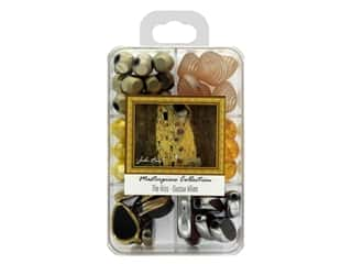 beading & jewelry making supplies: John Bead Glass Bead Masterpiece Collection Box Mix The Kiss - Gustav Klimt