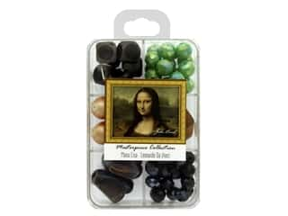 John Bead Glass Bead Masterpiece Collection Box Mix Mona Lisa - Leonardo Da Vinci
