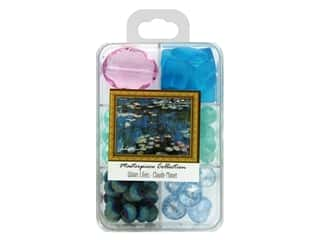 John Bead Glass Bead Masterpiece Collection Box Mix Water Lilies - Claude Monet