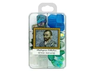 beading & jewelry making supplies: John Bead Glass Bead Masterpiece Collection Box Mix Self Portrait - Vincent van Gogh