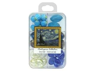 beading & jewelry making supplies: John Bead Glass Bead Masterpiece Collection Box Mix Starry Night - Vincent van Gogh