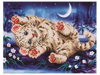beading & jewelry making supplies: Diamond Dotz Intermediate Kit - Baby Tiger Roly Poly