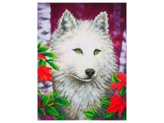 craft & hobbies: Diamond Dotz Intermediate Kit - White Wolf
