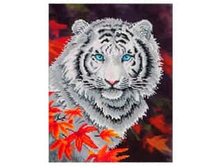 beading & jewelry making supplies: Diamond Dotz Intermediate Kit - White Tiger In Autumn