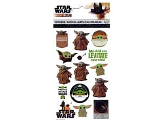 scrapbooking & paper crafts: SandyLion Sticker Star Wars Mandalorian Standard Baby Yoda