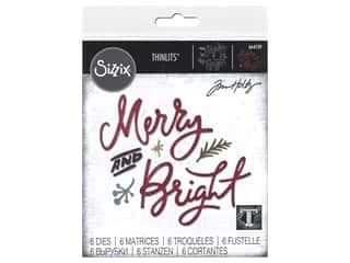 Sizzix Dies Tim Holtz Thinlits Merry & Bright