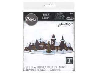 Sizzix Dies Tim Holtz Thinlits Holiday Village Colorize
