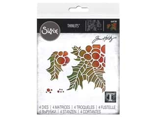 Sizzix Dies Tim Holtz Thinlits Holly Pieces