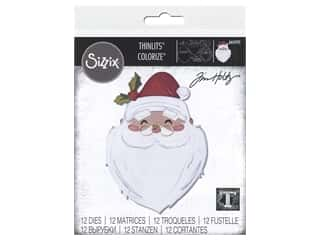 Sizzix Dies Tim Holtz Thinlits Santa's Wish Colorize