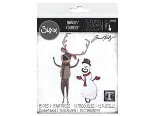 Sizzix Dies Tim Holtz Thinlits Papercut Christmas #2 Colorize