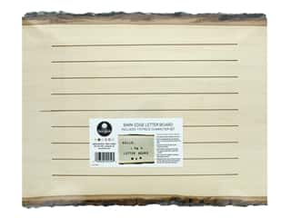 Walnut Hollow Wood Letter Board Natural Bark Edge With Letters