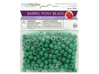 Multicraft Bead Barrel Pony Kelly Green 1.5oz