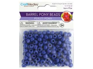 Multicraft Bead Pony 9mm x 6mm Barrel Royal Blue 1.5oz