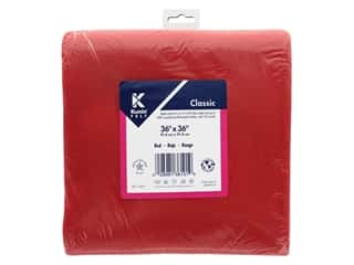 "Kunin Rainbow Classic Felt 36""x 36"" Red (3 pieces)"