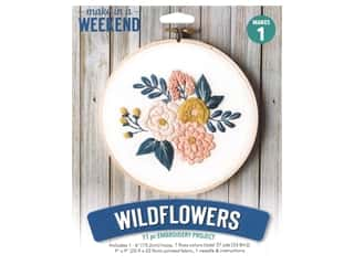 projects & kits: Leisure Arts Mini Maker Embroidery Project 6 in. Wildflowers