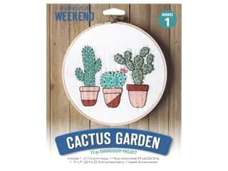 Leisure Arts Mini Maker Embroidery Kit - Cactus Garden