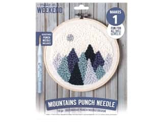 yarn & needlework: Leisure Arts Make In A Weekend Punch Needle Kit - Mountains