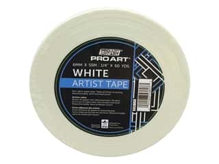 glues, adhesives & tapes: Pro Art Tape Artist .25 in. x 60 yd White